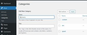 wordpress categories - like chapters in a book