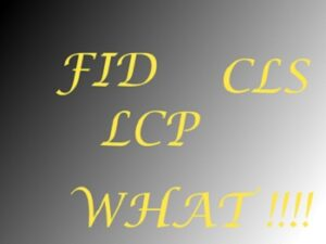 web core vitals LCP,FID and CLS