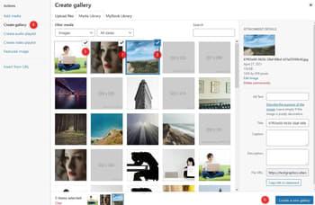 creating a new gallery ...you g othorugh a few steps