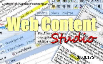 web content studio splash screen